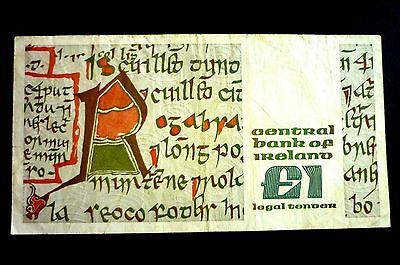 IRELAND (£1) ONE PUNT NOTE Year 1988 Queen Medb ~BID FROM ONLY 50p ~ FIFTY PENCE