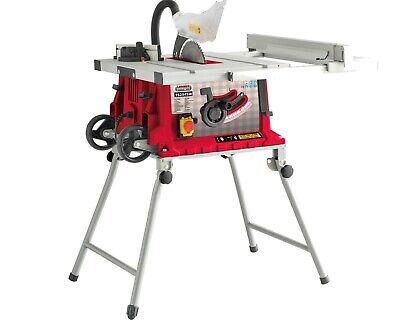 Lumberjack TS254SW 10 Inch Folding Bench Table Saw with Adjustable Side Ext