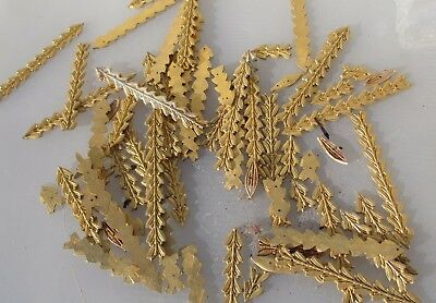 "Furniture Ormolu Hardware Drapes Husks Gold/ Brass Colour Leaf Fruit 6""L  BULK"