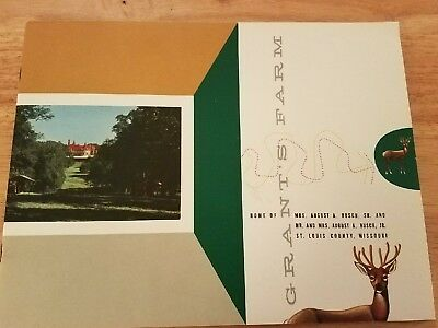 Grants Farm 1955 Grand Opening Booklet Anheuser Busch St. Louis Mo. Budweiser