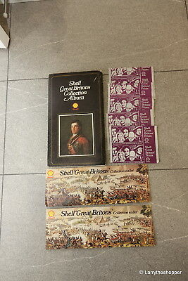 Shell Great Britons Collection Album, 2 Collector Wallets & 27 Spare Cards