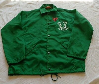 VINTAGE WINDLESS THE FLAPJACKET CORAL SPRINGS HIGH SCHOOL FL Jacket YOUTH LARGE