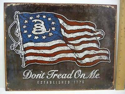 "Don't Tread On Me Established 1776 Tin Metal Sign 12 1/2"" x 16"" New"