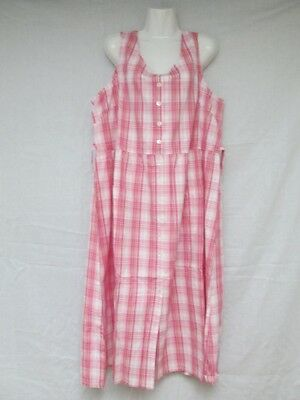 Vermont Country Store Plaid Jumper Dress Many Sizes Available Blue and Pink