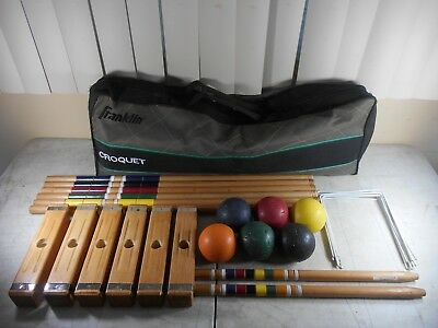 Franklin Sports Classic Series Travel Croquet Set Complete with Carrying Bag