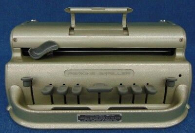 Perkins Brailler Braille Typewriter w/ Cover Tested!