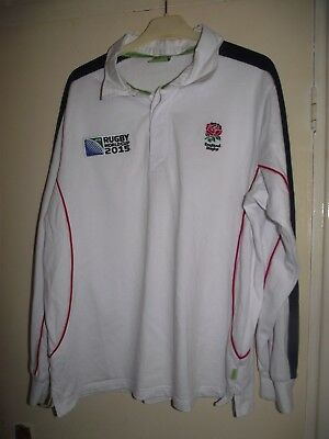 england world cup 2015 large long sleeved rugby union shirt  good cond