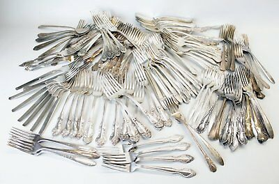141 Silverplate Flatware Dinner Forks Lot Craft/Jewelry First Love Tiger Lily