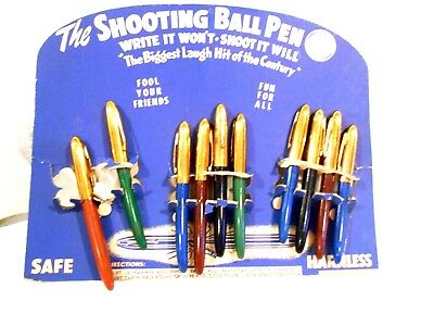 """Shooting Ball Pen Counter Top Display-""""Write it Won't Shoot it Will"""" by Windsor"""