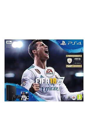 BRAND NEW PS4 Slim 500GB Console Sony PlayStation 4 with FIFA 18 BLACK