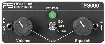 PS Engineering PM-3000 4-Place Stereo Intercom w/ Pilot Isolate 11931A