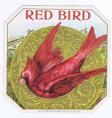 Red Bird, original outer cigar box label, robin