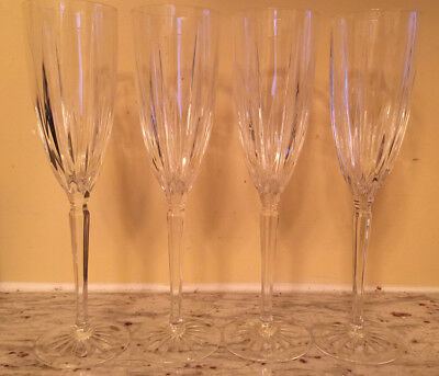 lot of 4 Royal Gallery MONARCH Crystal Fluted Champagne stems