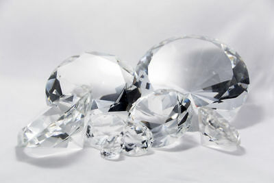 Large Crystal Clear Diamond Shape Paperweight Glass Wedding Favor Gift Ornaments