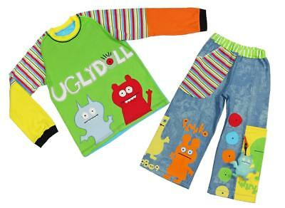 """Custom Boutique Boys """"Ugly Dolls"""" by Gorilla Bear Top & Pants Size 7 8 9 NWOT aa"""