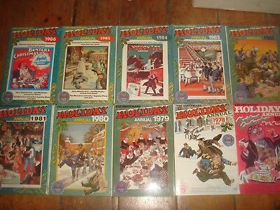 GREYFRIARS HOLIDAY ANNUALS 1977-1986 Howard Baker Billy Bunter Lot of 10 Books