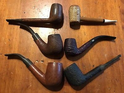 Vintage Smoking Pipes LOT of 6 tobacco pipes GBD/saint Claude/ Sherwood/bartlett