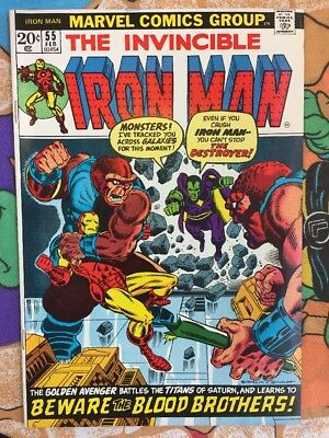 IRON MAN #55 1st THANOS APPEARANCE! Drax Starfox Kronos Guardians Of The Galaxy