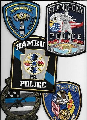 Clearance:  Misc. Departments - 5 Patch Set - # 32 shoulder police patch (fire)