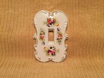 Vintage Porcelain  Switch Cover Hand Painted Arnart Japan #6712