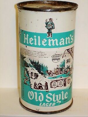 HEILEMAN'S OLD STYLE Flat Top Beer Can M936