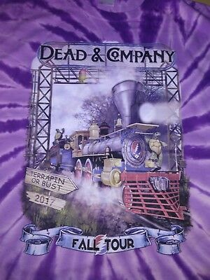 Dead and Company Fall Tour 2017 Terrapin Station Purple Tye Dye Direct to Garmen