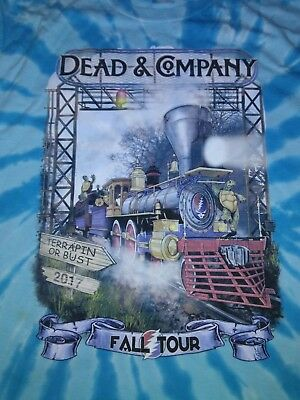 Dead and Company Fall Tour 2017 Terrapin Station LITE BLUE TYE DYE