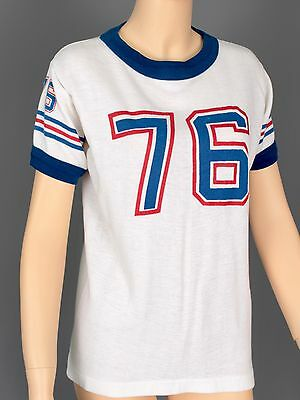 """Sz Medium Authentic 1970's Ringer T-Shirt """"76"""" Sport Shirt Thick, Warm And Soft"""