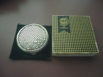 Boxed Vintage Glomesh Silver Powder Compact