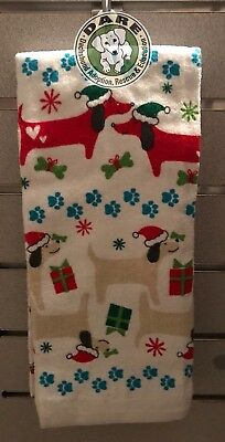 DACHSHUND Christmas Holiday Set of (2) TWO Kitchen Towels - WIENER DOG CHRISTMAS