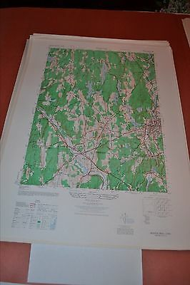 1940's Army topographic map Webster Massachusetts -Sheet 6668 III SW