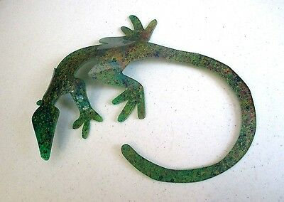 "Gecko Lizard - handcrafted plastic figure -by ""The Lizard Lady""- Sherry Stephens"