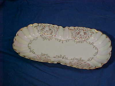 1Early 20thc JAPANESE PORCELAIN Hand Decorated CELERY DISH by A.A.VANTINE NY