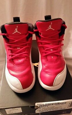 Nike Air Jordan Retro 12, Cherry Red, Preschool Boy or Girl, Size 13.5c