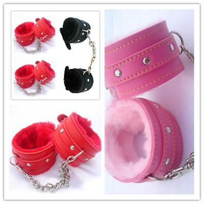 Handcuffs Faux Leather Sex Slave Hand Ring Ankle Cuffs Restraints Toy New J