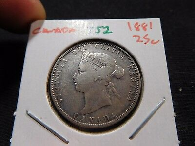 INV #T52 Canada 1881 25 Cents