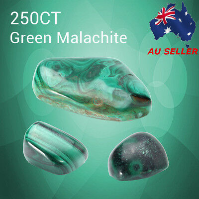 AU 250CT Untreated Natural Antique Green Malachite Cabochon Gemstone Polished