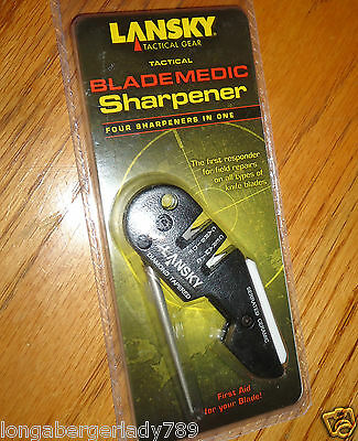 Lansky Tactical Gear Four In One Blade Medic Knife Sharpener All Types Of Knives