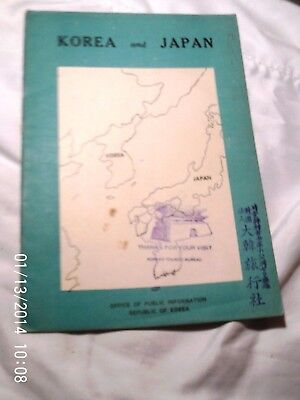 KOREA AND JAPAN, 1954, published in Seoul, Korea. No photos, just text