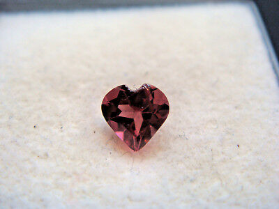 Rhodolite Garnet Gemstone Heart Cut 4.5mm x 4.5mm 0.50 carat faceted natural Gem