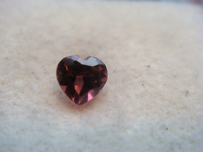 Rhodolite Garnet Gemstone Heart Cut 4 mm x 4 mm 0.25 carat faceted natural Gem