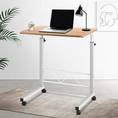 New Laptop Desk Office Home Table Rolling Angel Height Adjustable Over Bed Stand