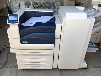 Xerox phaser 7800gx printer with booklet finisher.only 22K print meter perfect!