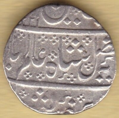 Indo-French Silver 1 Rupee Ry43 Ah1221 #v91