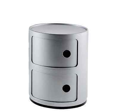 Container Componibili, Kartell, 2-Er Silber, Neu + Ovp!