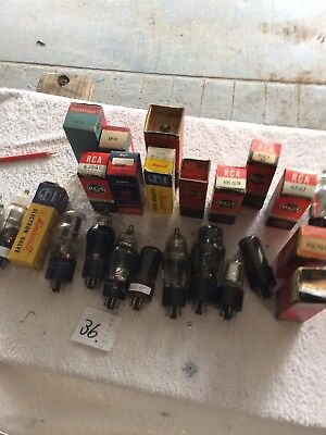 radio valves.. 6 Volt Octals . Mixed.