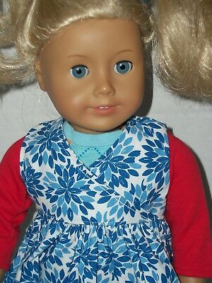 18 inch tall American Girl Doll with Blonde Hair & Blue Eyes