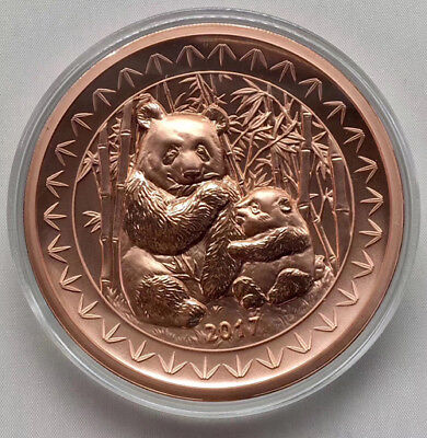 2017 China Beijing International Coin Expo Panda Copper Medal 70mm Mintage:199