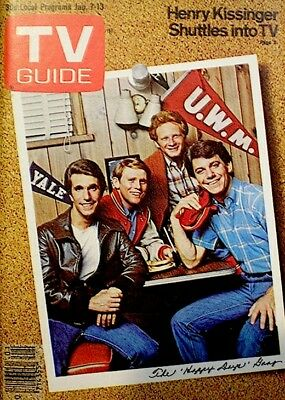 TV Guide 1978 Happy Days Henry Winkler Ron Howard Don Most Anson Williams NM/M