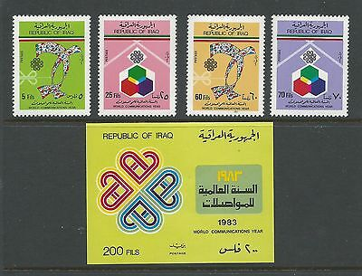 1983 World Communications Year set 4 & Mini Sheet Complete MUH/MNH as Issued